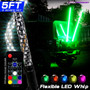 LED RGB Color Changing Whip Lights 3 Feet 4 Feet 5 Feet