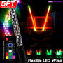 LED RGB Color Chasing Whip Lights 3 4 5 Feet