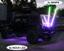2x Color Chasing Whip Lights with 4x Rock Lights Kit