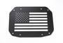 US Flag Aluminum Tailgate Exhaust Cover  for Jeep Wrangler JL 2018+