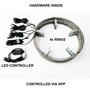LED Wheel Lights Kit White with Turn Signal and 8 White Rock Lights