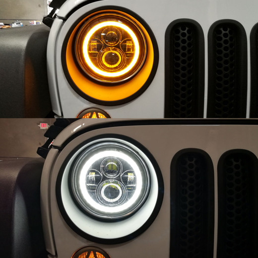 LED Halo Headlights for TJ JK JL Gladiator