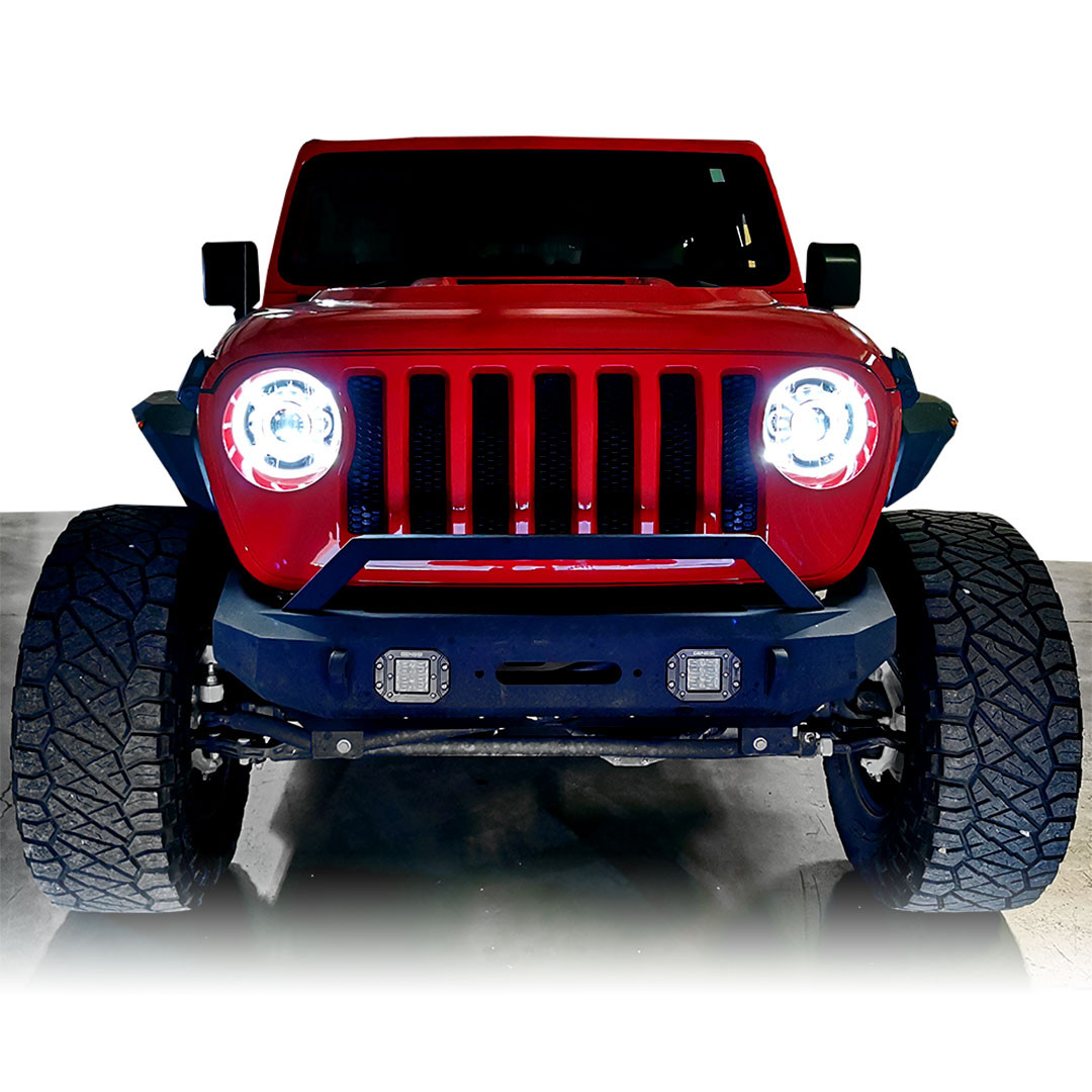 Cyclone HALO LED Headlights for Wrangler JL &  Gladiator 2018+