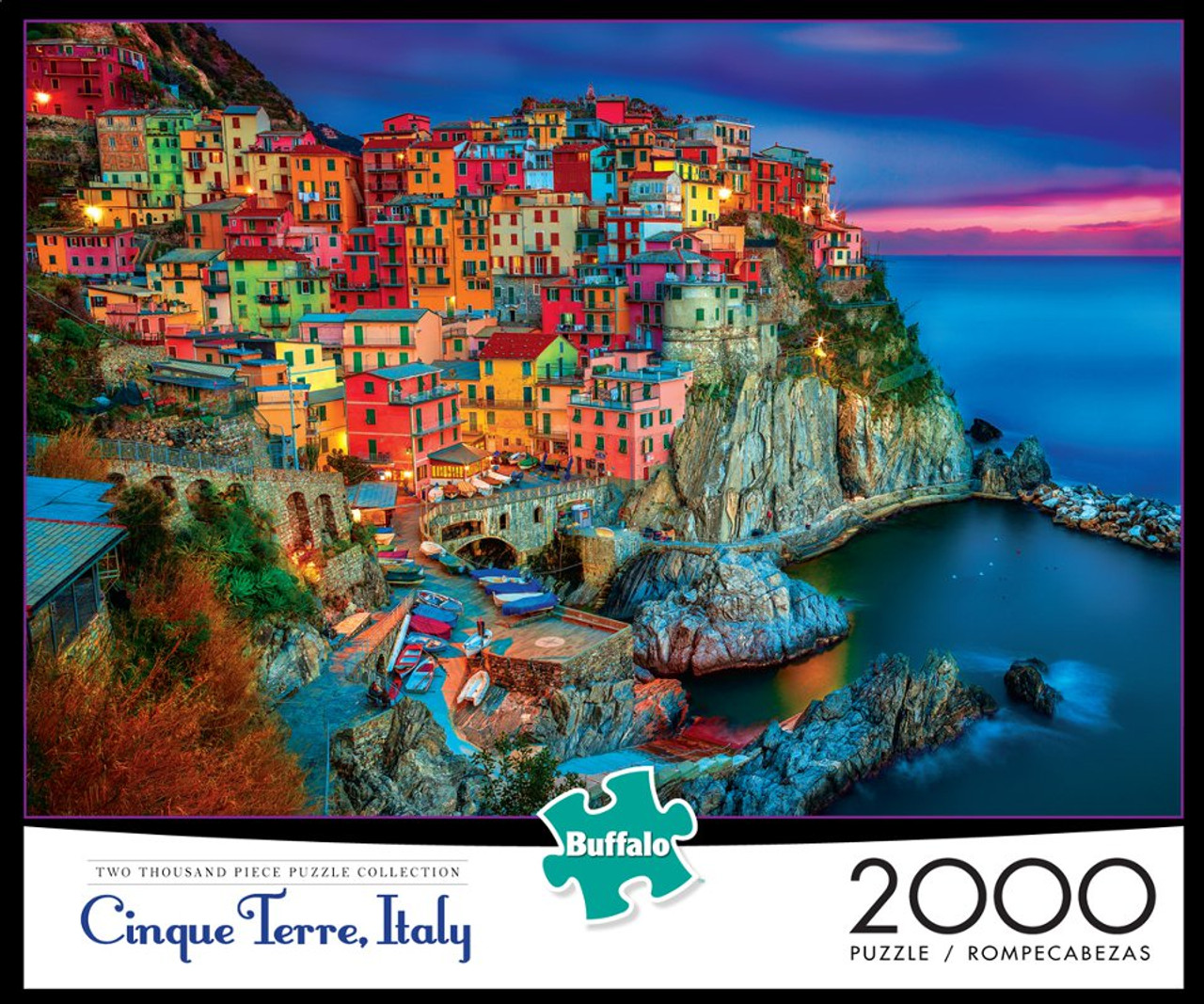 Cliffside City at Twilight Cinque Terre Varstage Puzzles Jigsaw Puzzles 1000 Piece for Adults