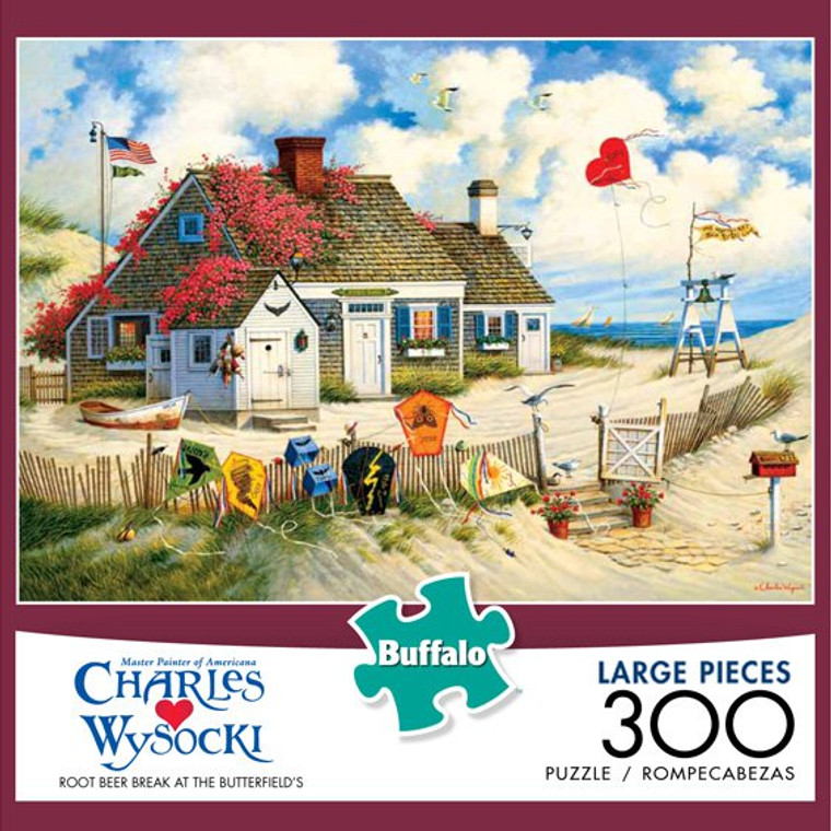 Charles Wysocki Root Beer Break at the Butterfields 300 Large Piece Jigsaw Puzzle Box
