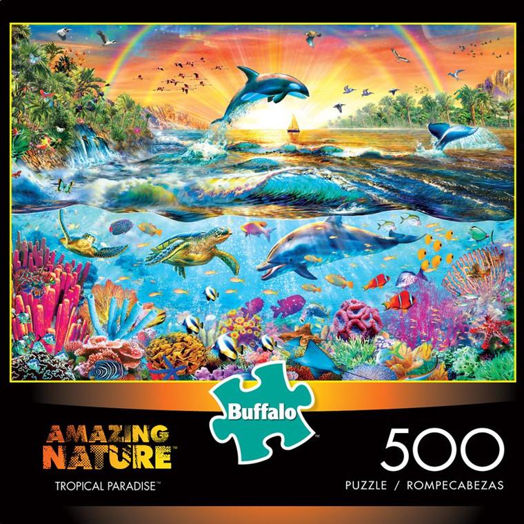 Amazing Nature Tropical Paradise 500 Piece Jigsaw Puzzle Box