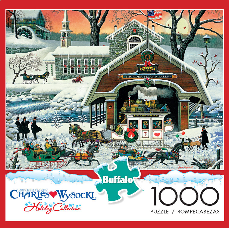 Charles Wysocki Twas' the Twilight Before Christmas 1000 Piece Jigsaw Puzzle Box