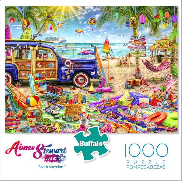 Aimee Stewart Collection: Beach Vacation 1000 Piece Jigsaw Puzzle Box