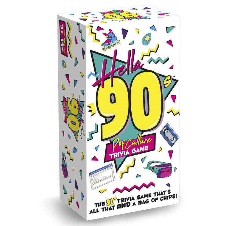 Hella 90s Pop Culture Trivia Game Box Front