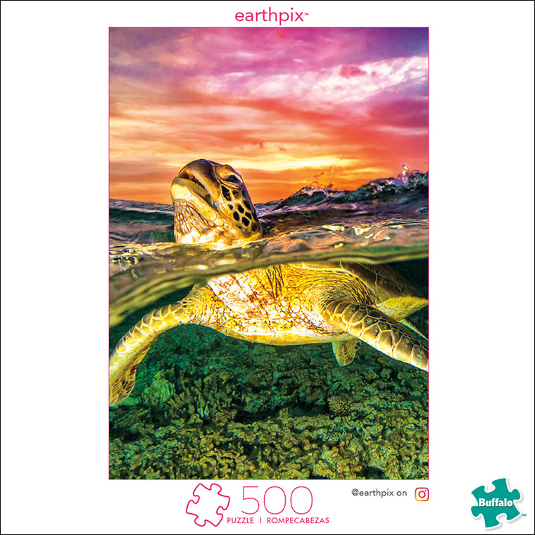 Earthpix Sea Turtle 500 Piece Jigsaw Puzzle Box