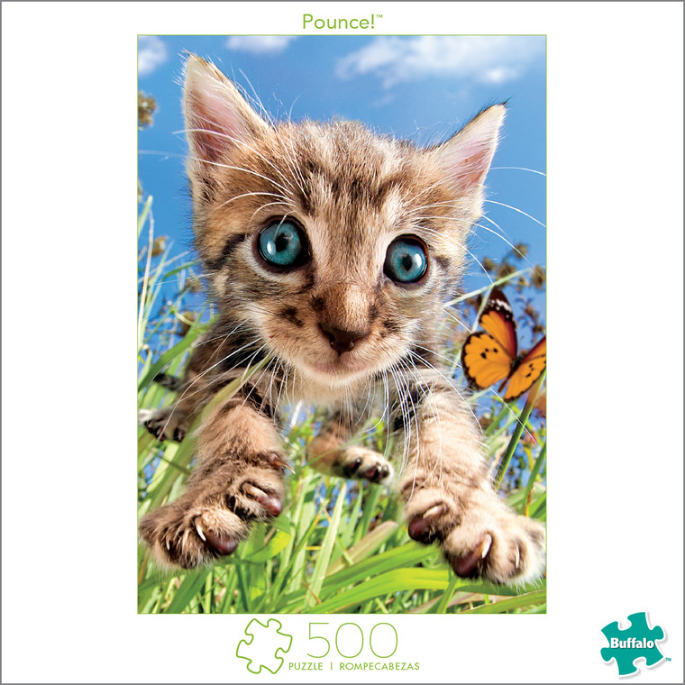 Earthpix Pounce! 500 Piece Jigsaw Puzzle Box