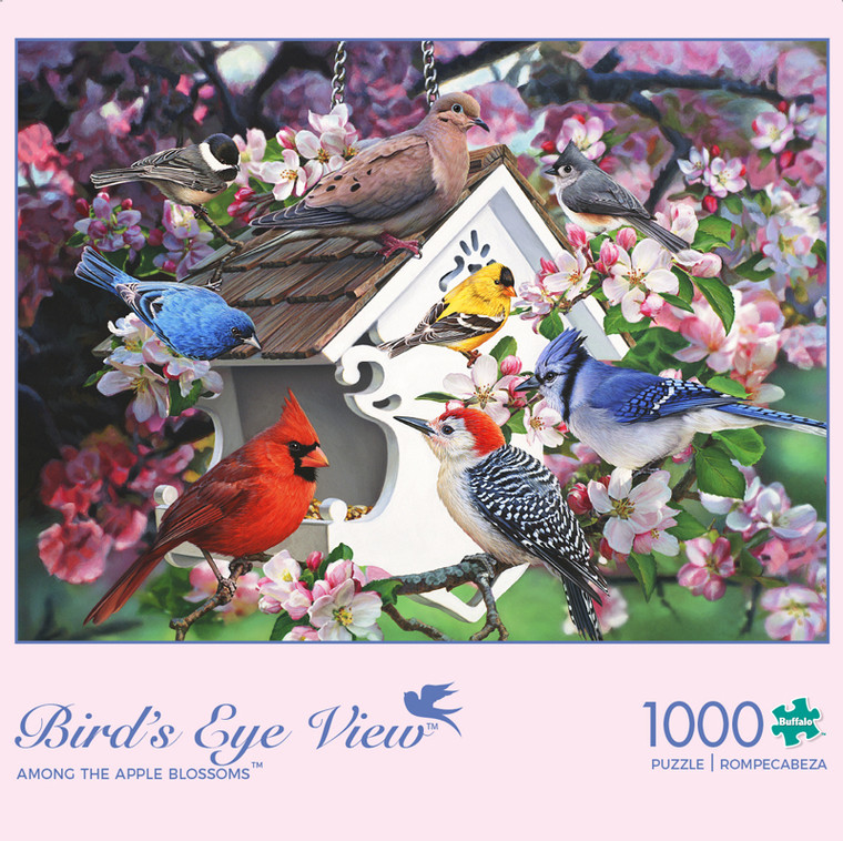 Bird's Eye View Among the Apple Blossoms 1000 Piece Jigsaw Puzzle Box