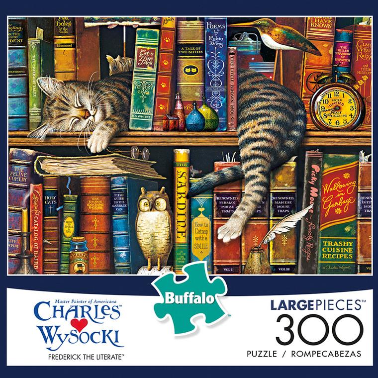 Charles Wysocki Frederick The Literate 300 Large Piece Jigsaw Puzzle Box