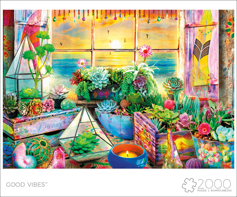 Art of Play Good Vibes 2000 Puzzle Image