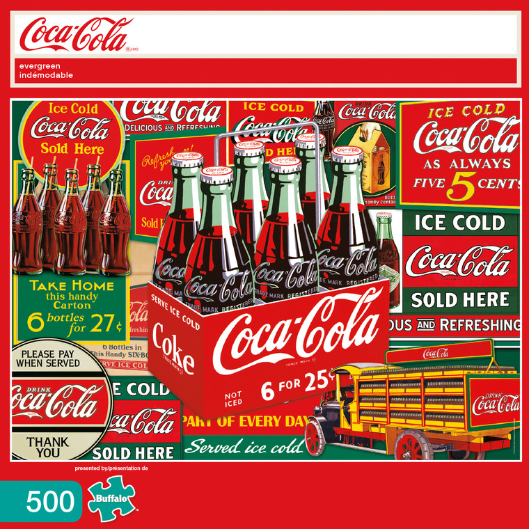 Coke Evergreen 500 Piece Box