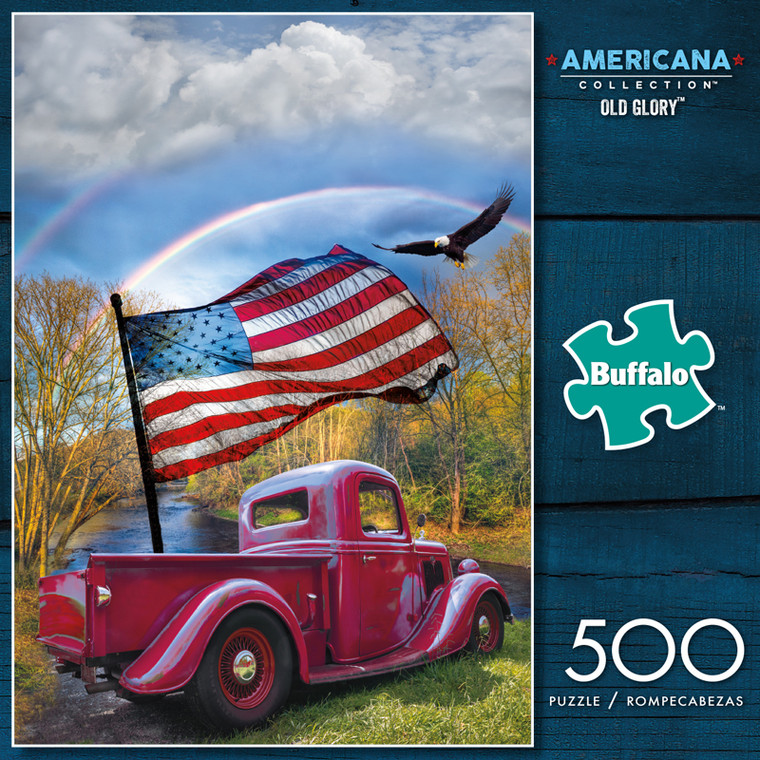 Americana Collection Old Glory 500 Piece Jigsaw Puzzle Box