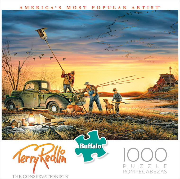 Terry Redlin The Conservationists 1000 Piece Box