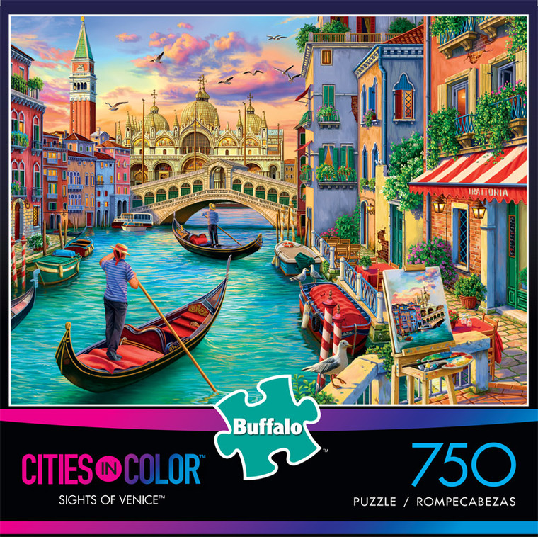 Cities in Color Sights of Venice 750 Piece Jigsaw Puzzle Front