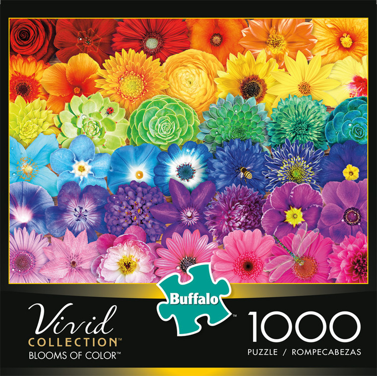 Vivid Blooms of Color 1000 Piece Jigsaw Puzzle Front