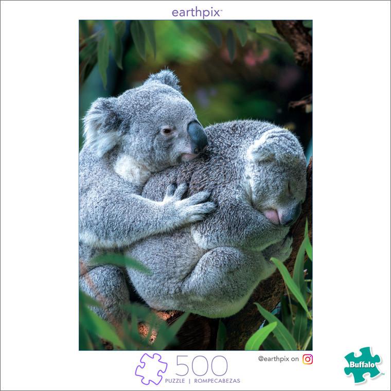 Earthpix Bear Hug 500 Piece Jigsaw Puzzle Front