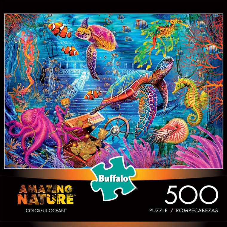 Amazing Nature Colorful Oceans 500 Piece Jigsaw Puzzle Front