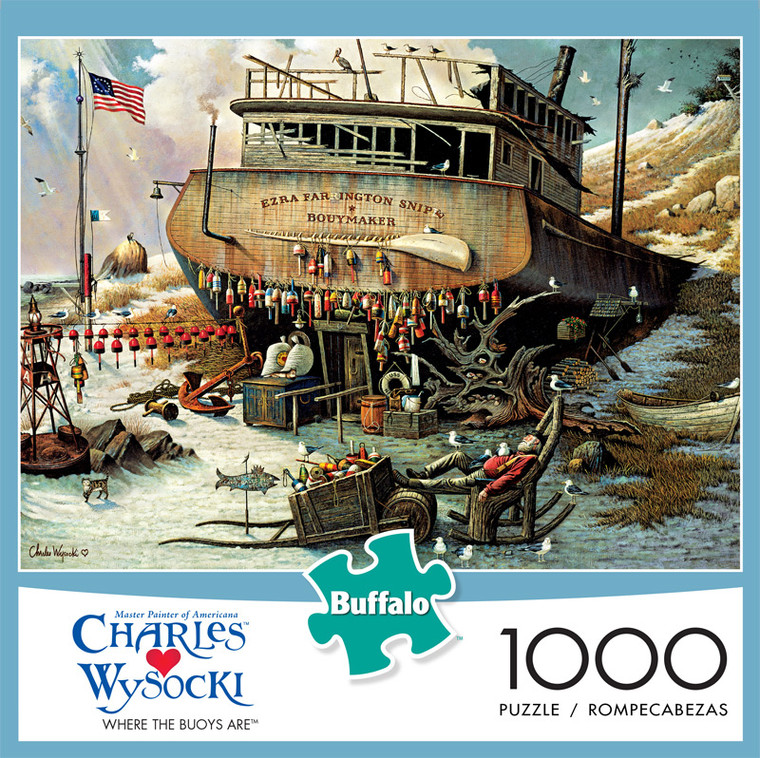 Charles Wysocki Where the Buoys Are 1000 Piece Jigsaw Puzzle Front