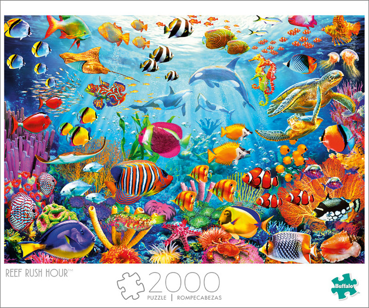 Art of Play Reef Rush Hour 2000 Piece Jigsaw Puzzle Front