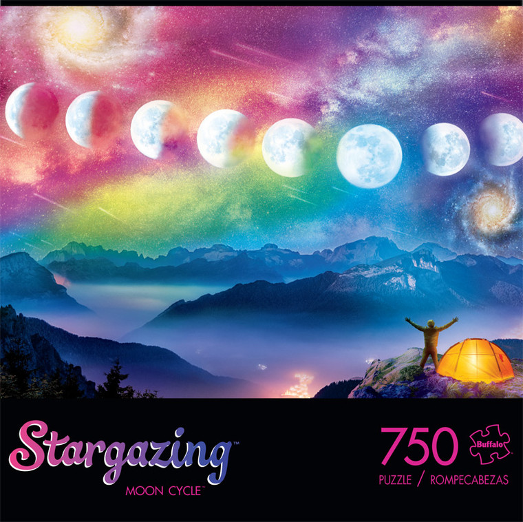Stargazing Moon Cycle 750 Piece Jigsaw Puzzle Front