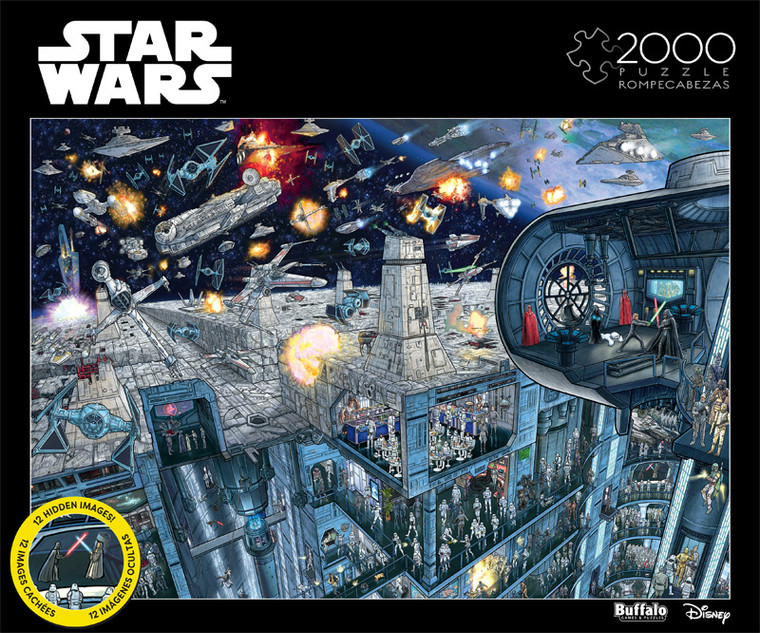 Star Wars™ Search Inside: Death Star 2000 Piece Jigsaw Puzzle Front