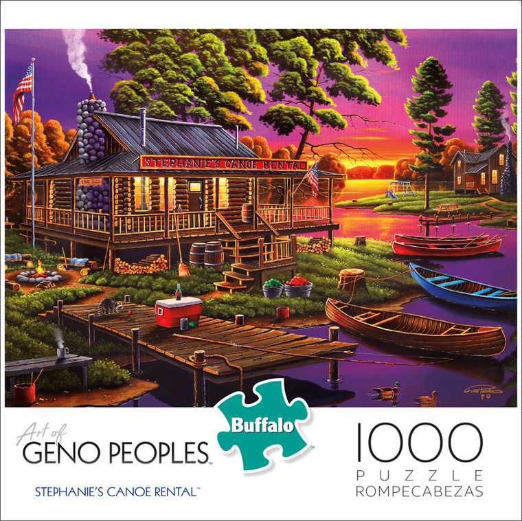 Geno Peoples Stephanie's Canoe Rental 1000 Piece Jigsaw Puzzle Front