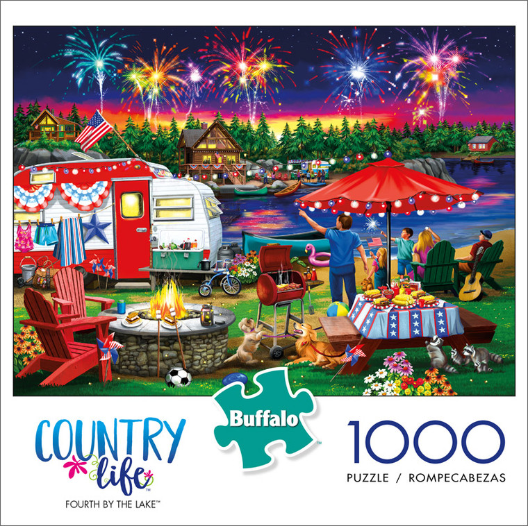 Country Life Fourth By The Lake 1000 Piece Jigsaw Puzzle Front