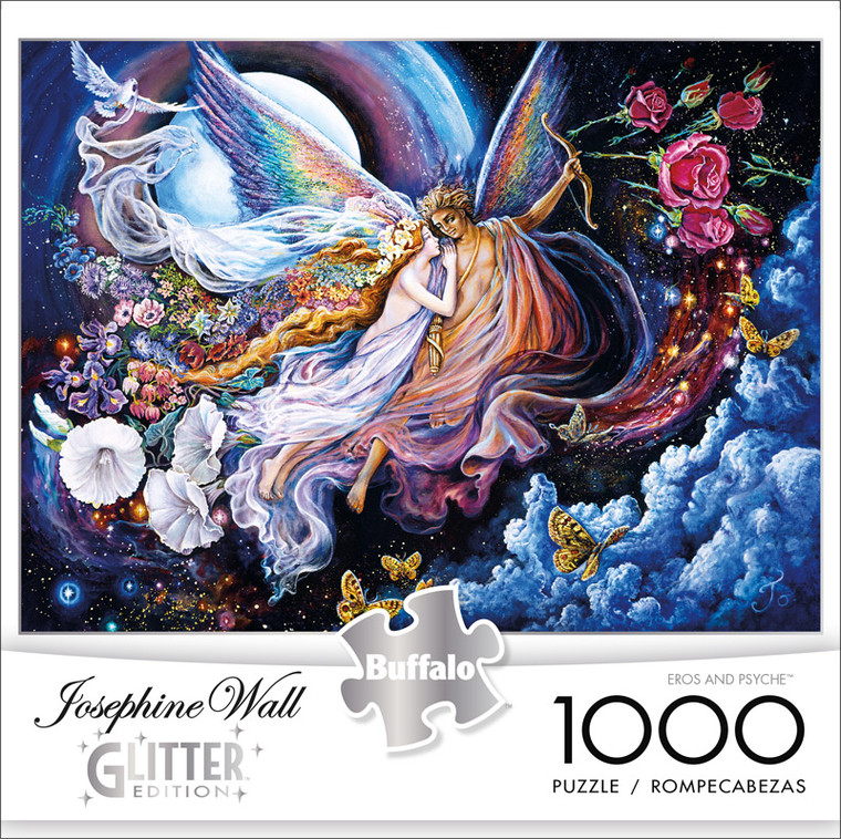 Josephine Wall Eros and Psyche Glitter Edition 1000 Piece Jigsaw Puzzle Front