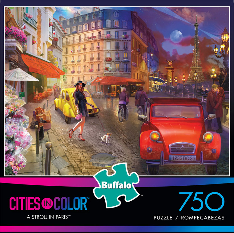 Cities in Color A Stroll In Paris 750 Piece Jigsaw Puzzle Front
