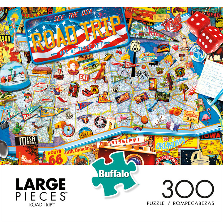 Road Trip 300 Large Piece Jigsaw Puzzle Front