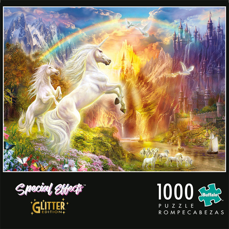 Special Effects Unicorn Sunset Glitter Edition 1000 Piece Jigsaw Puzzle Front