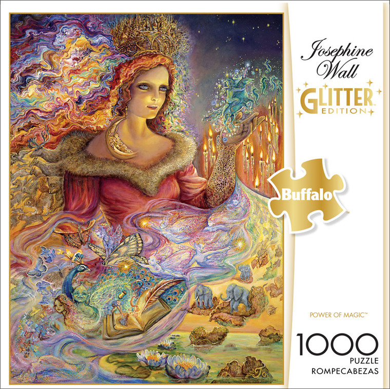 Josephine Wall Power of Magic Glitter Edition 1000 Piece Jigsaw Puzzle Front
