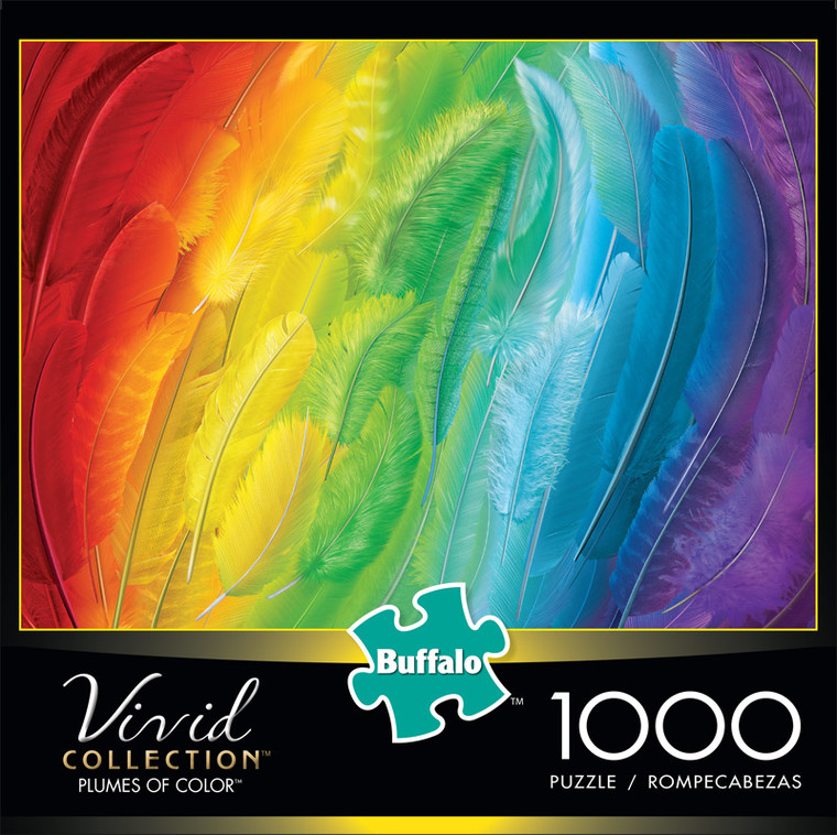 Vivid Plumes of Color 1000 Piece Jigsaw Puzzle Front