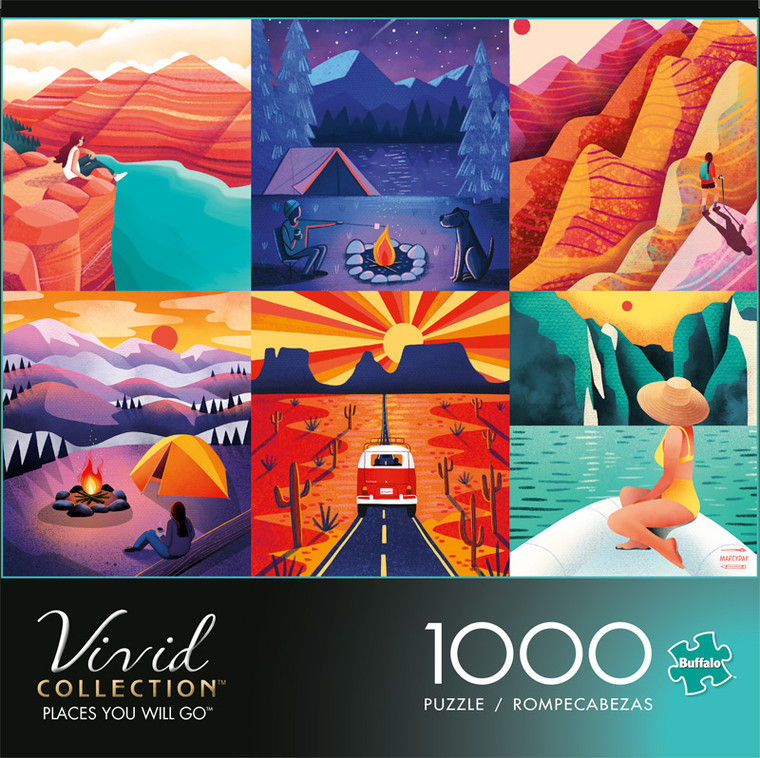 Vivid Places You Will Go 1000 Piece Jigsaw Puzzle Front