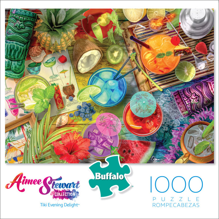 Aimee Stewart Tiki Evening Delight 1000 Piece Jigsaw Puzzle Front