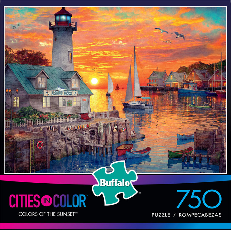 Cities in Color Colors of the Sunset 750 Piece Jigsaw Puzzle Front