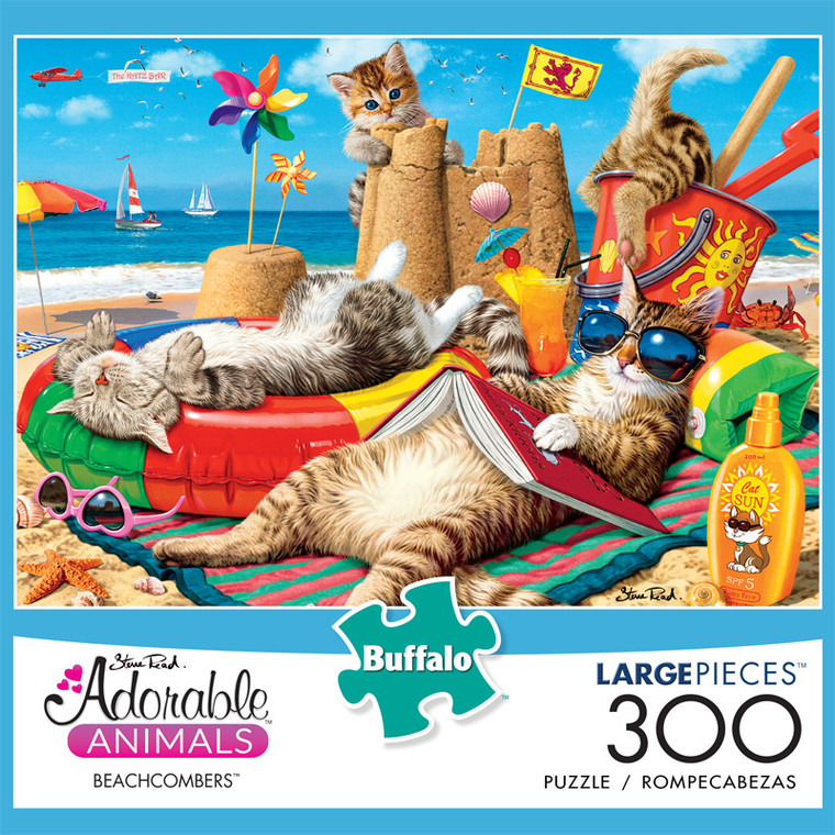 Adorable Animals Beachcombers 300 Large Piece Jigsaw Puzzle Front