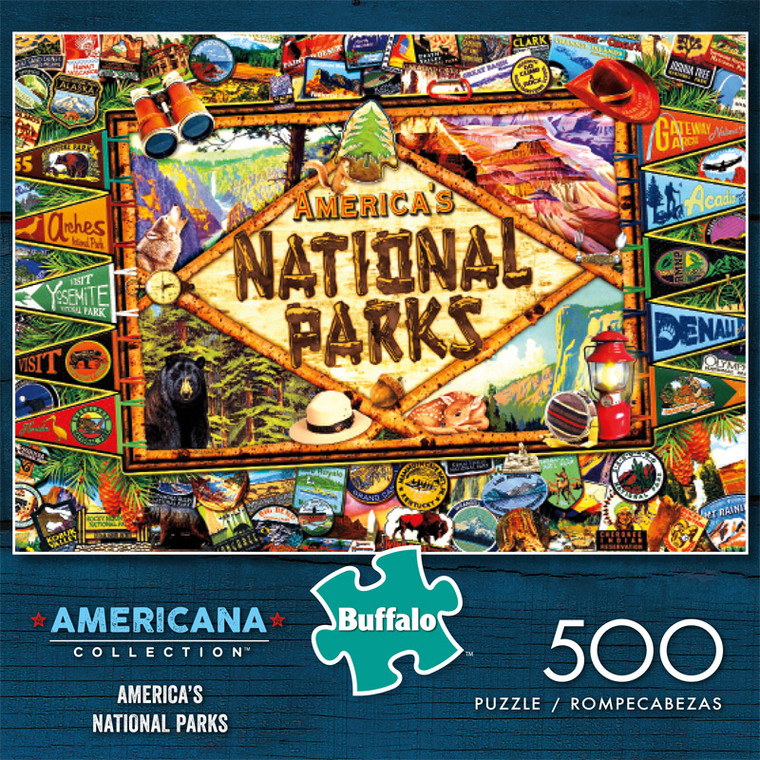 Americana Collection America's National Parks 500 Piece Jigsaw Puzzle Front