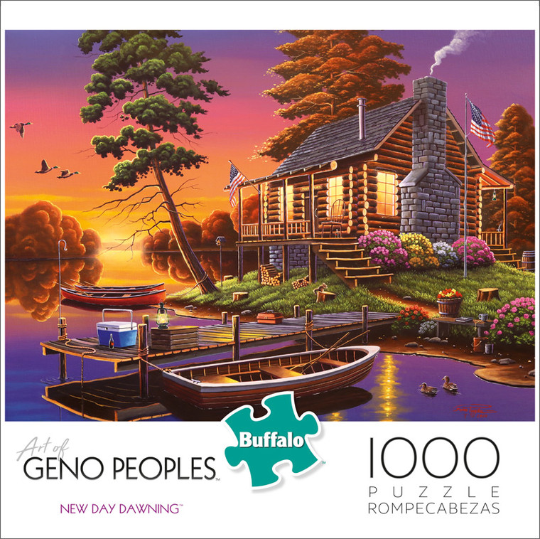 Geno Peoples New Day Dawning 1000 Piece Jigsaw Puzzle Front
