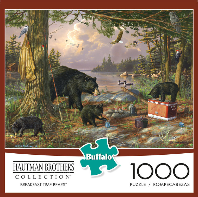 Hautman Brothers Breakfast Time Bears 1000 Piece Jigsaw Puzzle Front