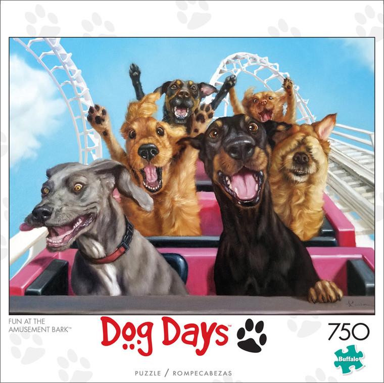 Dog Days Fun at the Amusement Bark 750 Piece Jigsaw Puzzle Front
