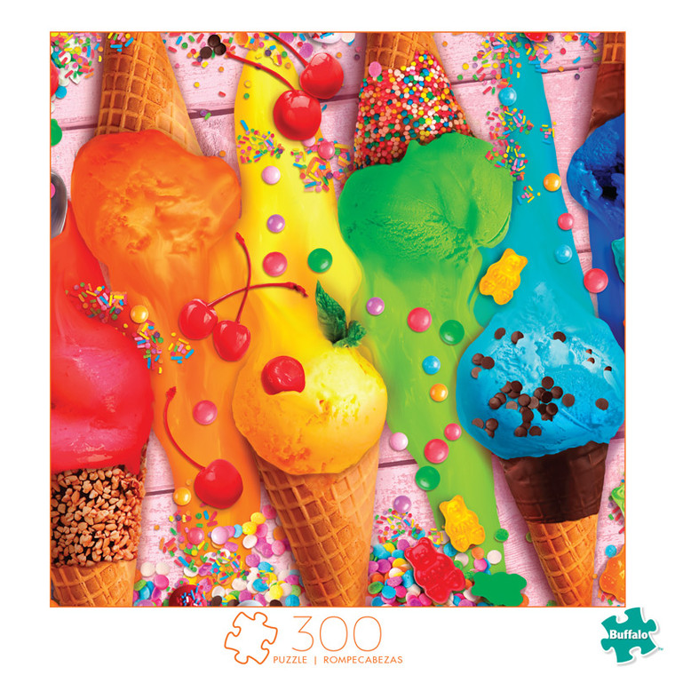 Art of Play Scoops of Color 300 Large Piece Jigsaw Puzzle Front