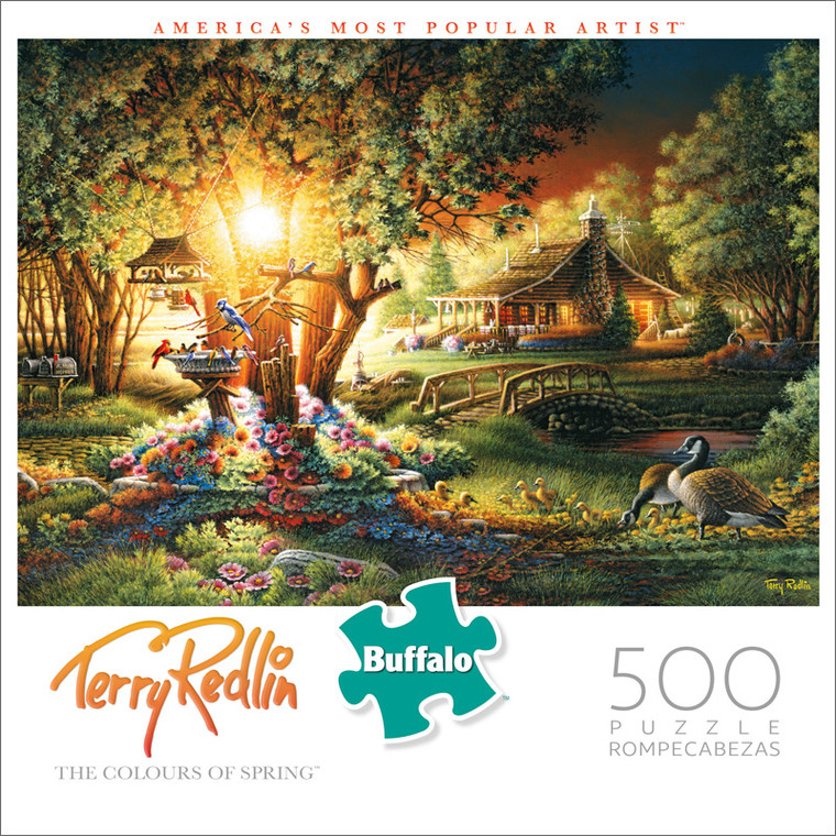 Americana Terry Redlin The Colours Of Spring 500 Piece Jigsaw Puzzle Front