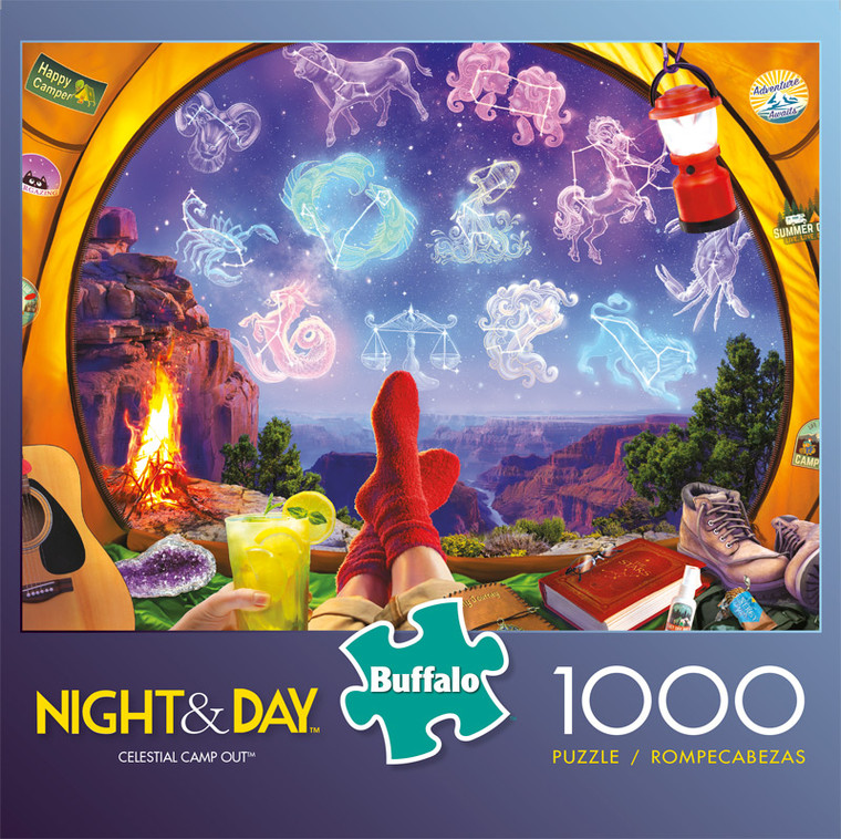 Night & Day Celestial Camp Out 1000 Piece Jigsaw Puzzle Front