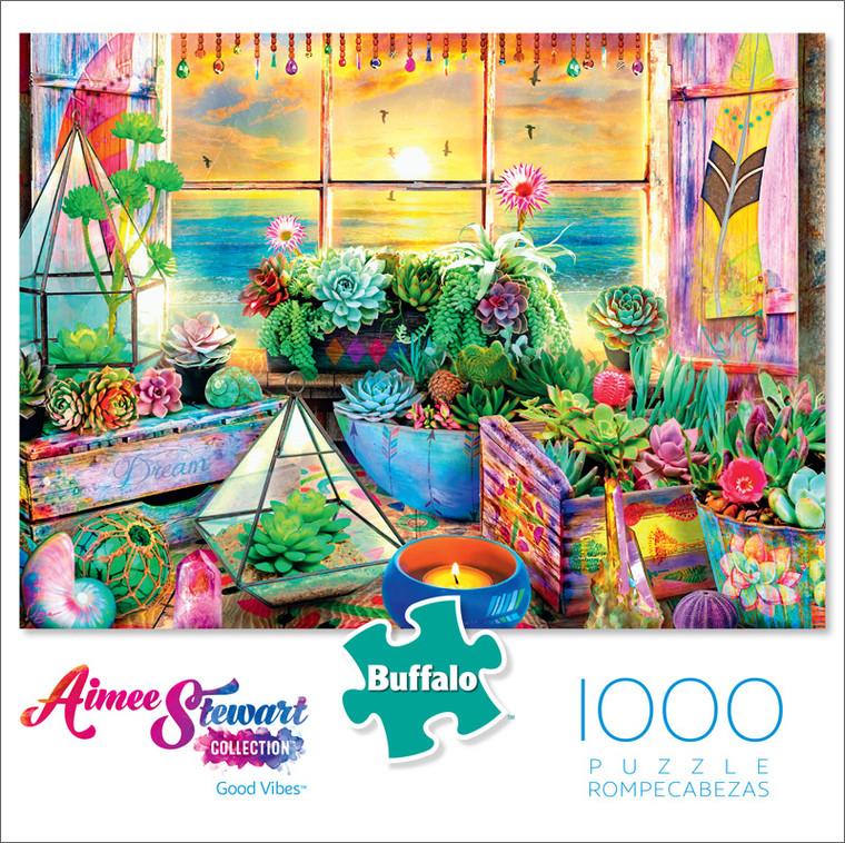 Aimee Stewart Good Vibes 1000 Piece Jigsaw Puzzle Front