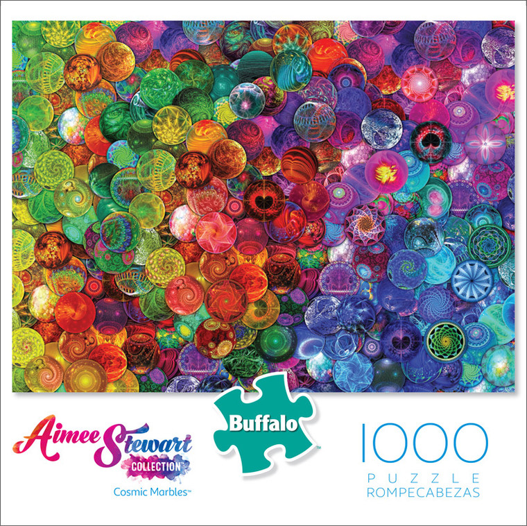 Aimee Stewart Cosmic Marbles 1000 Piece Jigsaw Puzzle Front